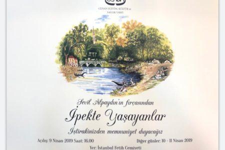 """Sevil Alpaydın'ın Fırçasından<br>""""İpekte Yaşayanlar"""" Resim Sergisi"""