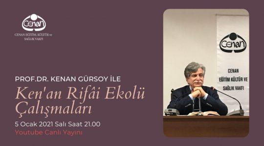 Prof. Dr. Kenan Gürsoy ile Salı Dersleri Başlıyor