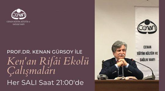 Prof. Dr. Kenan Gürsoy ile<br>Salı Dersleri Devam Ediyor