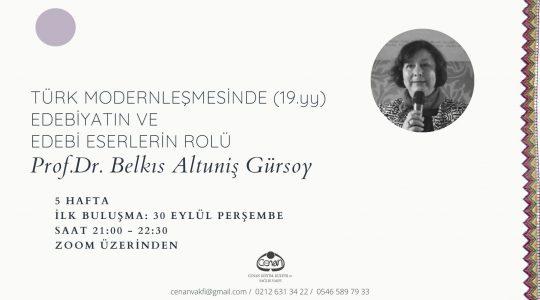 Türk Modernleşmesinde (19.yy) Edebiyatın ve Edebî Eserlerin Rolü